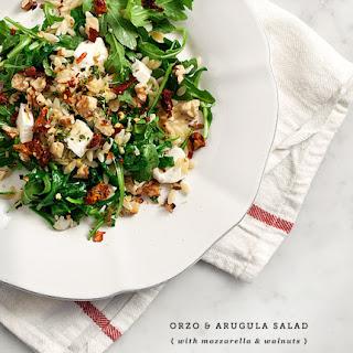 Orzo & Arugula Lemon Thyme Salad