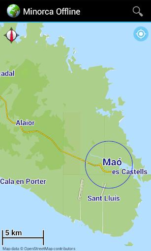 Offline Map: Menorca Spain