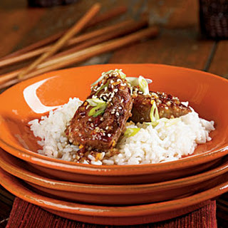 Pork Medallions with Spicy Orange-Sesame Sauce
