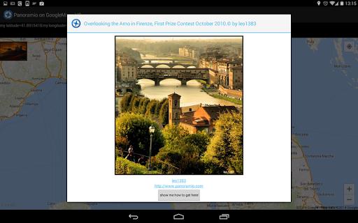 Panoramio on GoogleMaps V2