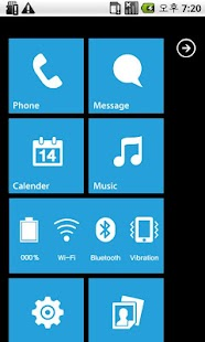 MXHome Theme Windroid7 Free - screenshot thumbnail