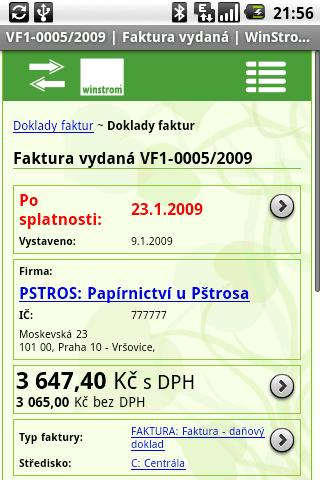 Book-Keeping WinStrom FlexiBee - screenshot