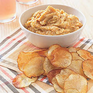 Bacon 'n' Bean Dip with Baked Potato Chips.