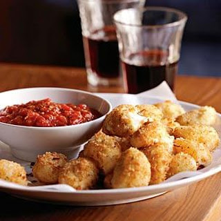 Fried Bocconcini with Spicy Tomato Sauce.