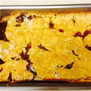 Easy Fruit Cobbler Cake.