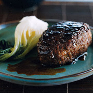 Soy-Glazed Beef Burger