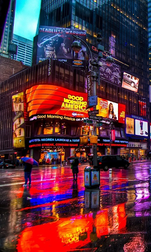 Rainy New York HD LWP