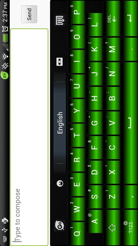 Green Laser Go Keyboard Theme - screenshot