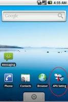 Screenshot of APN Settings Shortcut