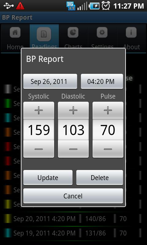 Blood Pressure (BP) Report- screenshot
