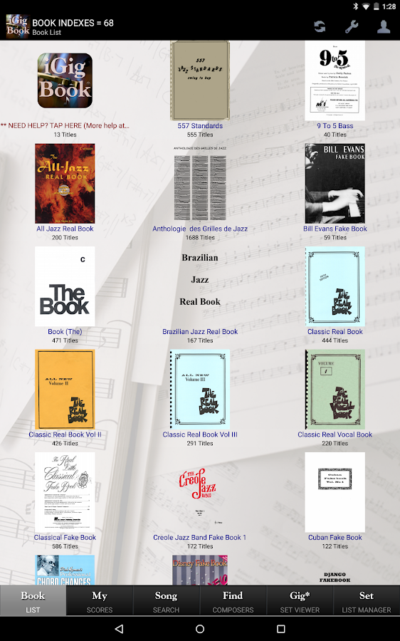 iGigBook Sheet Music Manager- screenshot