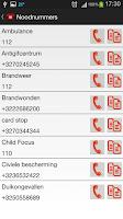 Screenshot of Nuttige Telefoonnummers