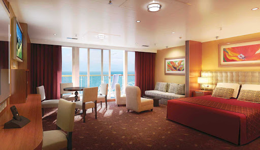 Norwegian-Dawn-Family-Suite - Norwegian Dawn's Family Suite with Balcony can sleep up to six guests. A luxury bath, living and dining areas, concierge and butler services await you.