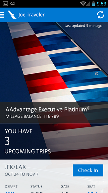 American Airlines - screenshot
