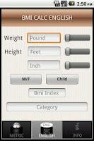 Screenshot of Body Mass Index Calc - BMI