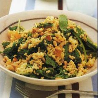 Millet with Spinach and Pine Nuts Recipe