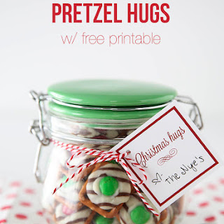Rolo And Hug Pretzels +free Printable
