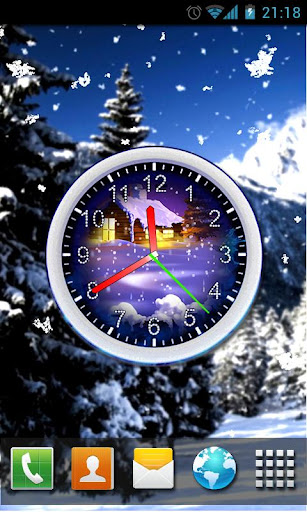 Winter Snow Clock LWP