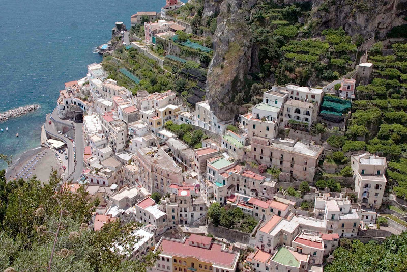 View from Ravello, on the Amalfi Coast of Italy.