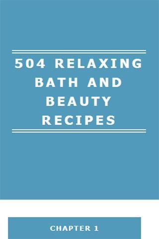 RELAXING BATH BEAUTY RECIPES