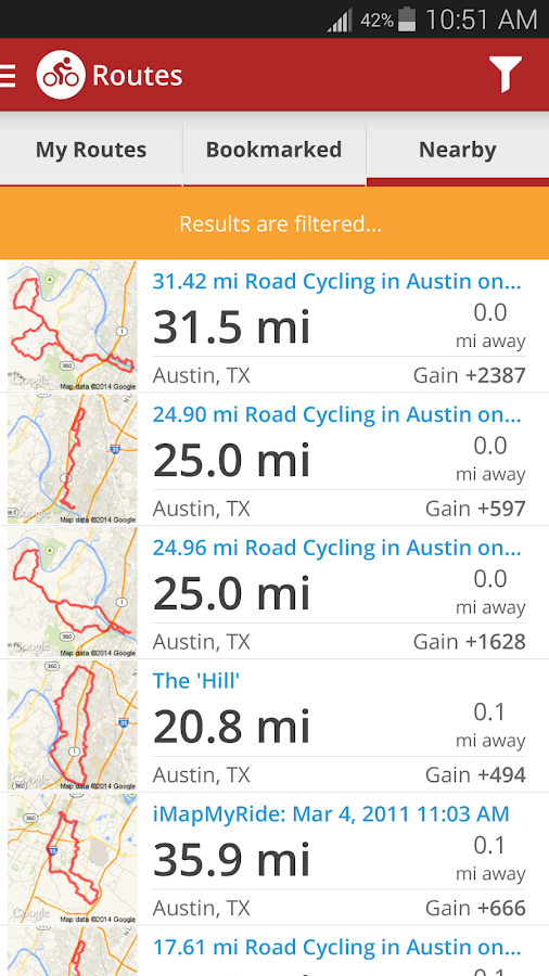 Map My Ride+ GPS Cycling- screenshot