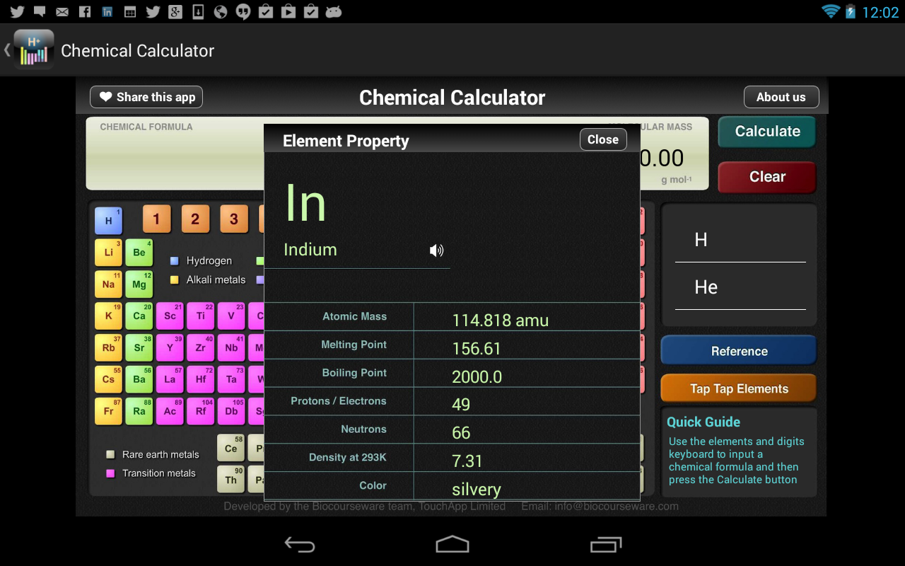 ChemCalc- screenshot