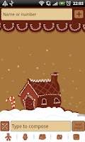 Screenshot of GO SMS Pro Gingerbread Theme