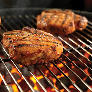 "A.1. ""Sweet Fire"" Porterhouse Pork Chops"