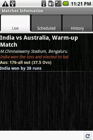Cricket Live! - screenshot