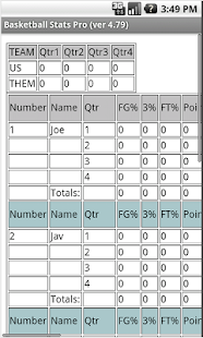 Basketball Stats Pro- screenshot thumbnail