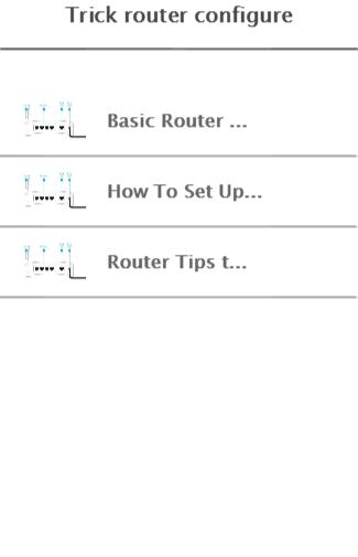 Trick router configure