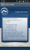 Screenshot of radio horeb