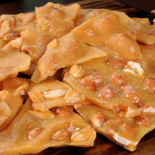Festive and Easy Peanut Brittle.