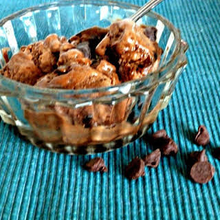 Chocolate Banana Ice Cream with Chocolate Chips and Only Three Ingredients.