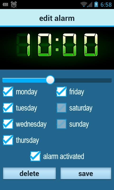 Glimma (soft alarm clock) - screenshot