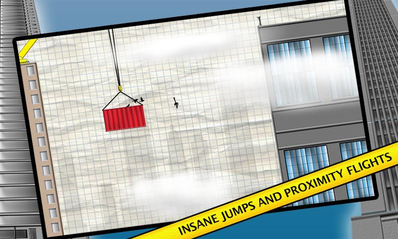 Stickman Base Jumper- screenshot