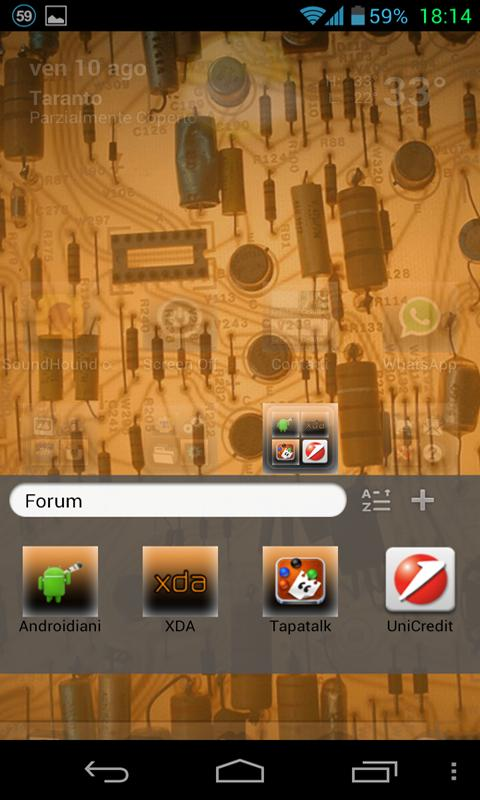 Electric Theme GO Launcher EX - screenshot