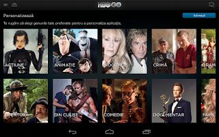 Screenshot of HBO GO Romania