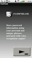 Screenshot of Passphrase