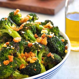 Roasted Broccoli with Toasted Pangritata (Breadcrumbs).