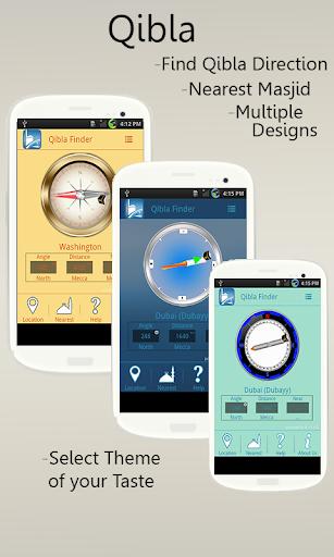 Qibla Compass Direction Finder