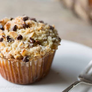 Chocolate-Chip Almond Streusel Topped Muffins.