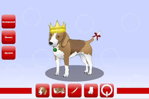 可爱的小狗装扮游戏