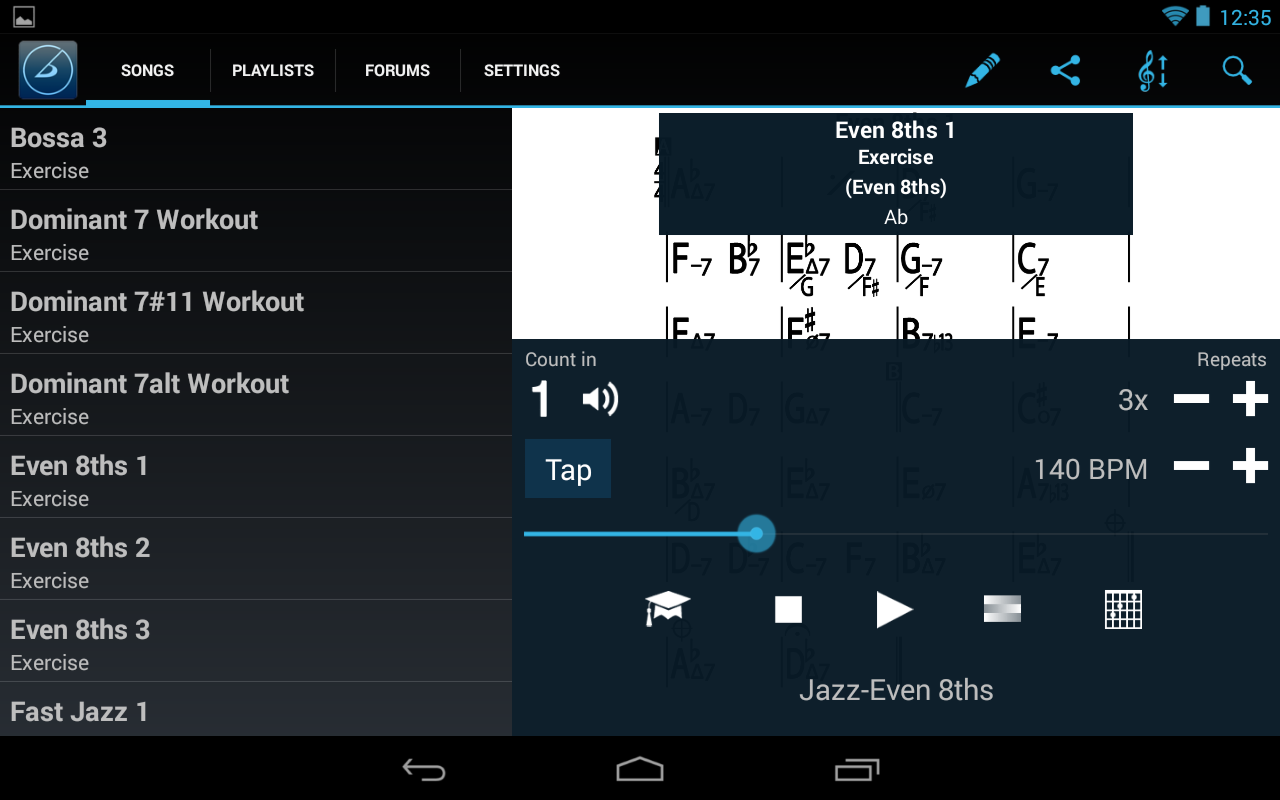 iReal Pro MusicBook-PlayAlong - screenshot