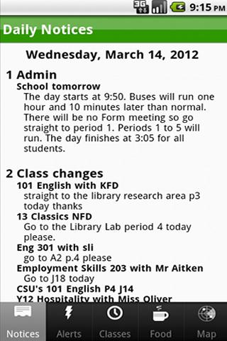 Lincoln High School App- screenshot