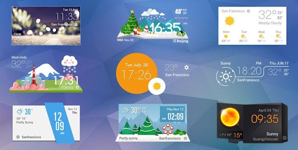 daily weather report clock screenshot 2