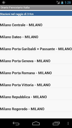 Orario Ferroviario Italia