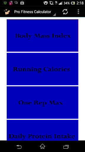 Pro Fitness Calculator