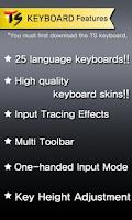 Screenshot of Spanish for TS Keyboard