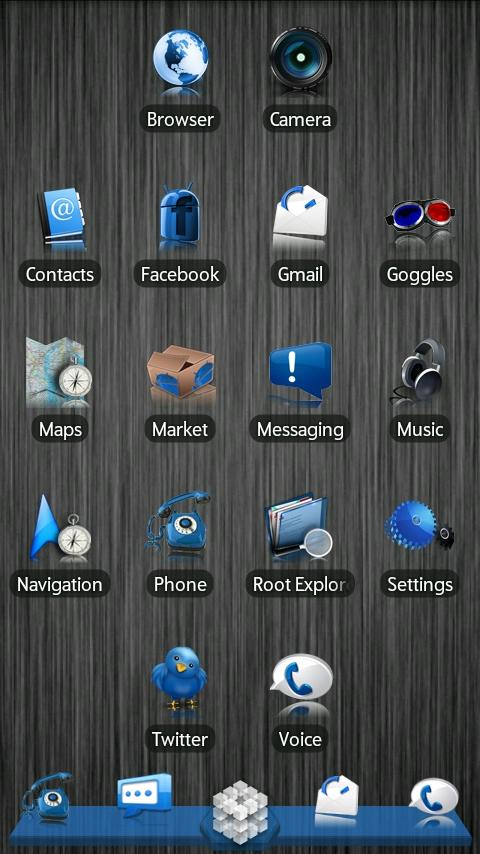 Blue ADW Theme - screenshot